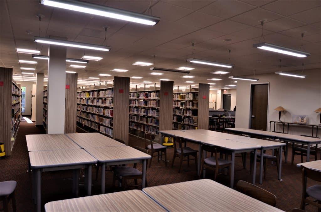 Quiet reading area
